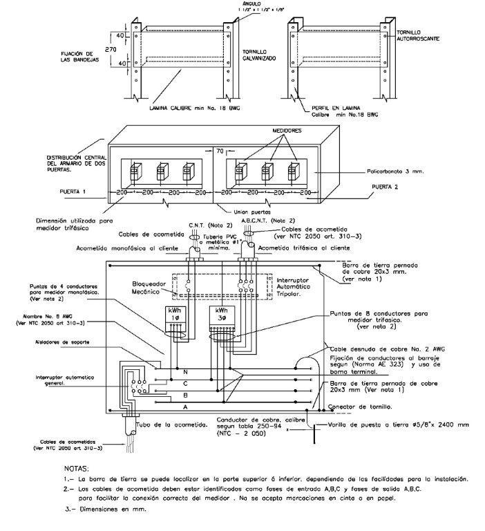 et 911 fig 5 ae308 fig 4  detalle de fijaci u00d3n de bandejas  distribuci u00d3n central del armario de